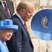 124919 Королева Елизавета II затроллила Дональда Трампа при помощи брошей