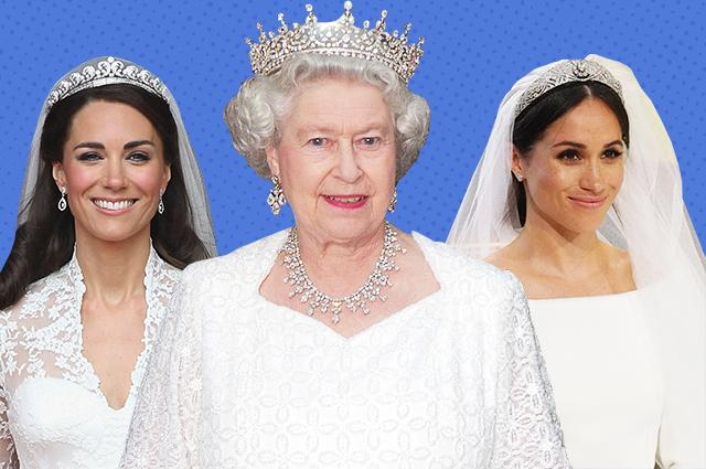 128568 Тиары, броши и колье: все драгоценности, которые Елизавета II одалживает своим родственницам