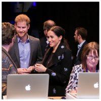 133534 Меган Маркл и принц Гарри на запуске совместного с Кейт Мидлтон и принцем Уильямом проекта Shout