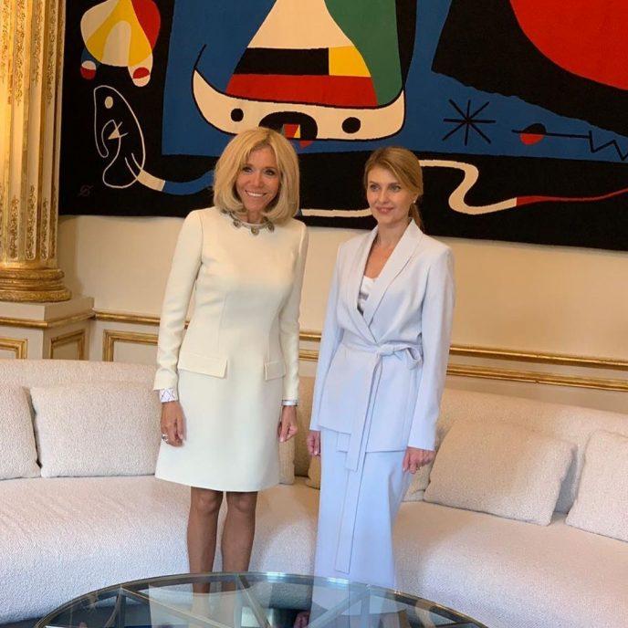 134399 Елена Зеленская затмила жену Президента Франции своим элегантным нарядом