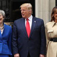 134079 Мелания и Дональд Трамп встретились с Терезой Мэй