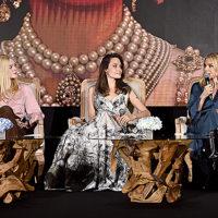 """136979 Анджелина Джоли, Мишель Пфайффер и Эль Фаннинг на пресс-конференции фильма """"Малефисента: Владычица тьмы"""""""