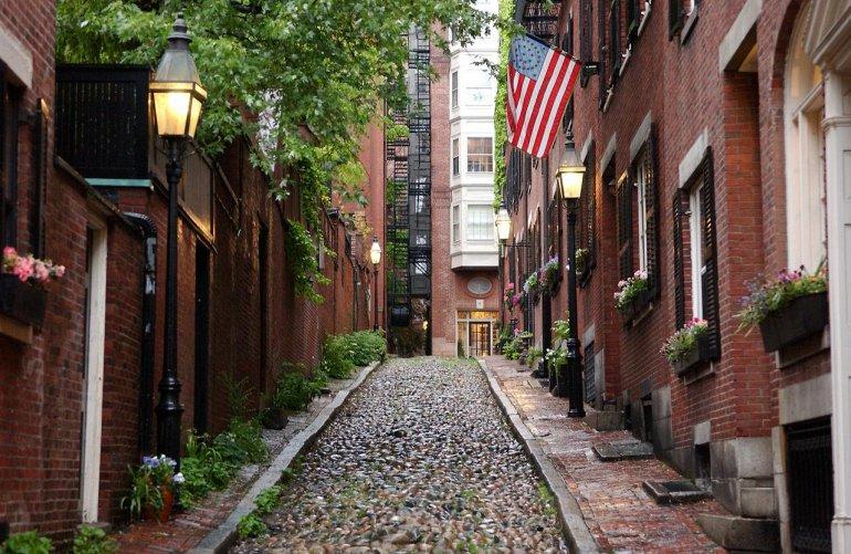 138065 Район Бикон-Хилл в Бостоне