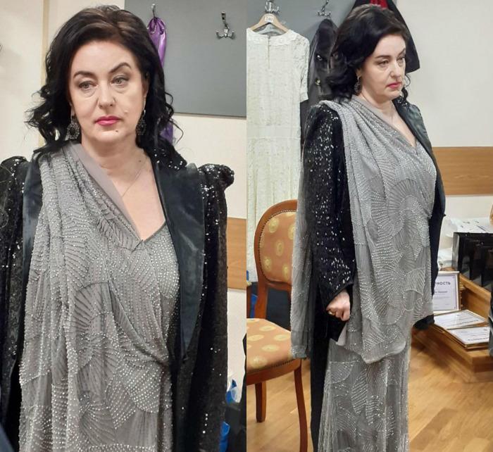 139646 Тамара Гвердцители в необычном наряде с пайетками появилась в Кремле