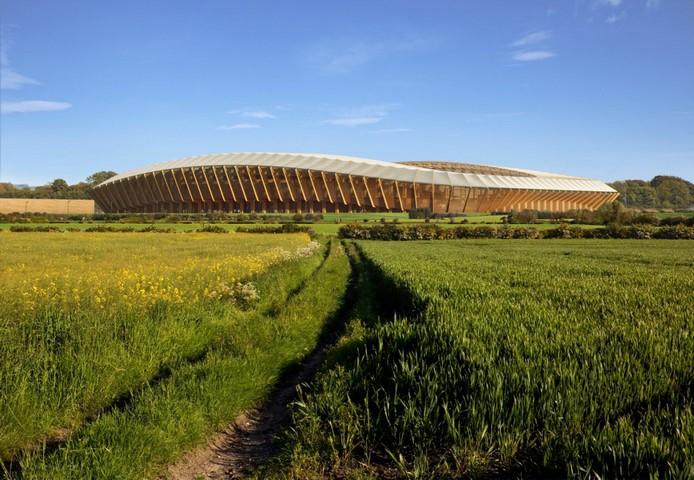143088 Уникальный деревянный стадион Zaha Hadid Architects