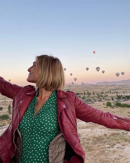 151850 Максим Виторган отметил день рождения с Нино Нинидзе на воздушном шаре в Каппадокии