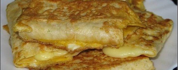 161545 Лаваш с сыром в яйце. Отличный завтрак всего за 5 минут!